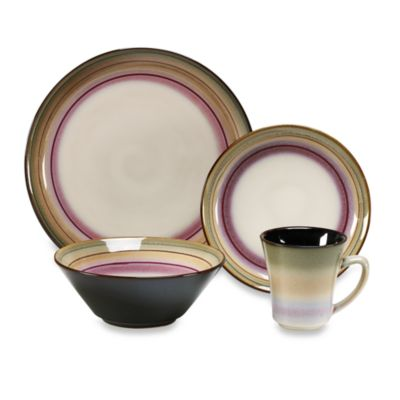 Sango Arcadia Black 16-Piece Dinnerware Set