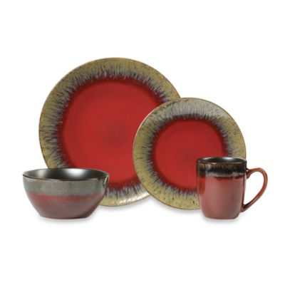 Mikasa® Gourmet Basics Calder Red 16-Piece Dinnerware Set