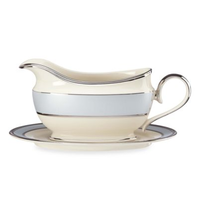 Lenox® Blue Frost Gravy Boat and Stand Set