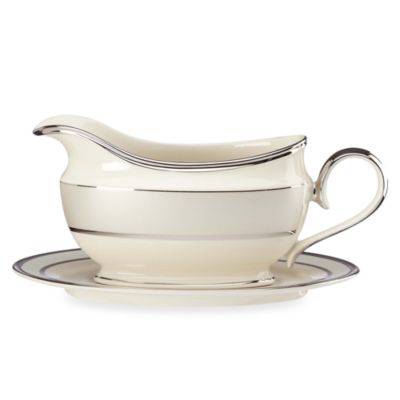 Lenox® Ivory Frost™ Gravy Boat and Stand Set