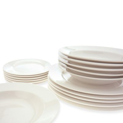 18-Piece White Dinnerware Set