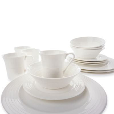 Maxwell & Williams™ White Basics Cirque 16-Piece Flared Dinnerware Set