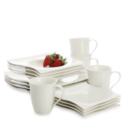 Maxwell & Williams™ White Basics Motion 16-Piece Dinnerware Set
