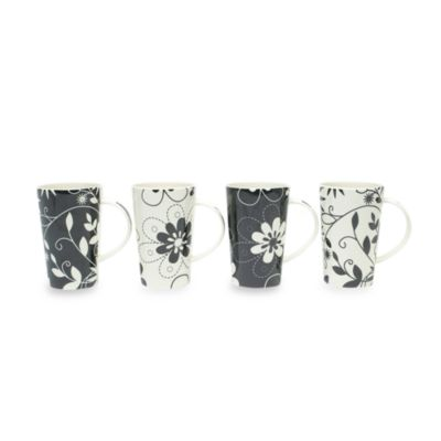 Maxwell & Williams™ Daisy May 15 1/2-Ounce Mugs (Set of 4)
