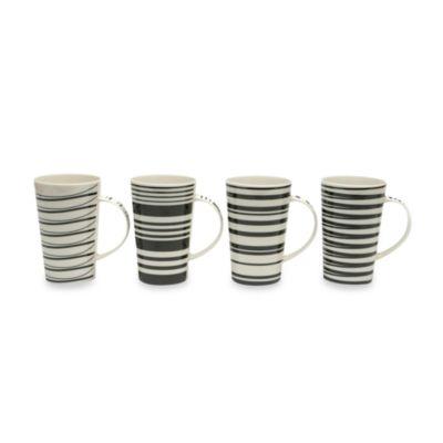 Black and White Porcelain Coffee Mugs