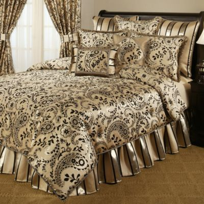 Austin Horn Classics Savona Reversible European Sham in Gold/Black