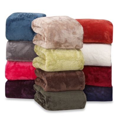 Berkshire Blanket® Serasoft® Supreme Throw in Cream