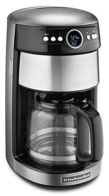 KitchenAid® 14-Cup Glass Carafe Coffee Maker in Contour Silver
