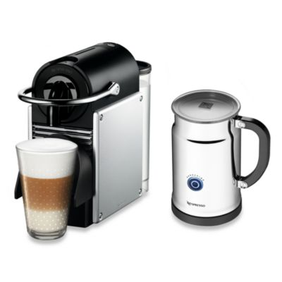 Nespresso® Pixie A D60-US-AL-NE Espresso Machine and Aeroccino Plus Bundle in Aluminum