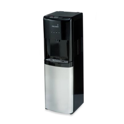 Primo Bottom Load Hot, Cool and Cold Water Dispenser in Black/Stainless Steel