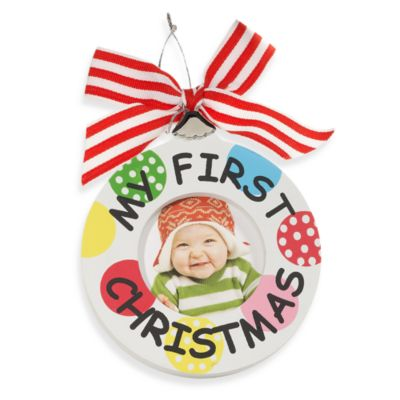 Mud Pie™ First Christmas Wood Frame Ornament