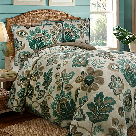 Scent Sation Ikat Floral 3-4 Piece Comforter Set, 100% Cotton