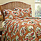 Shell Key 4-Piece Queen Comforter Set in Coral