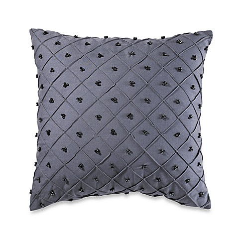 Thalia Beaded Square Throw Pillow