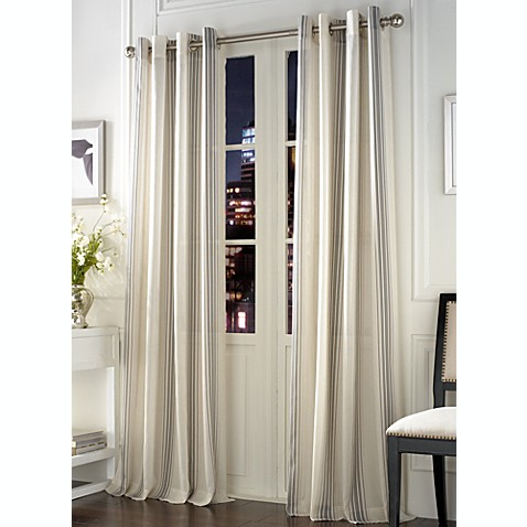 Linea Mineral Window Curtain Panel