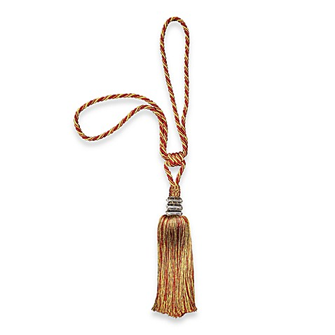 Hand-Made Decorative Tie Back Tassel in Burgundy/Gold