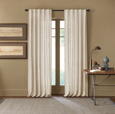 Cambria® Malta 108-Inch Rod Pocket/Back Tab Window Curtain Panel in Snow White
