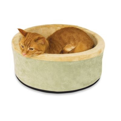 K&H 20-Inch Thermo Kitty Bed in Sage