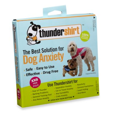 XX Small Pet Thundershirt in Pink