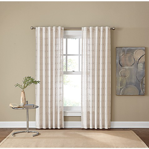"Santorini 84"" Rod Pocket/Back Tab Window Curtain Panel"