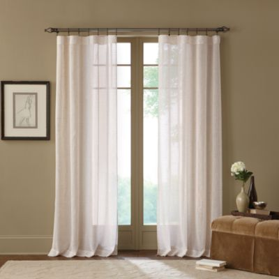 Terra Natural 84-Inch Sheer Rod Pocket Window Curtain Panel