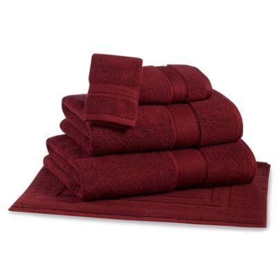 Kenneth Cole Reaction Home Washcloth in Bordeaux