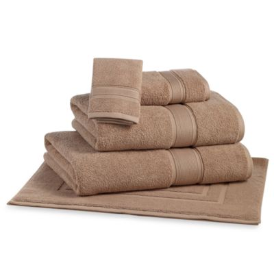 Kenneth Cole Reaction Home Wash Cloth in Latte