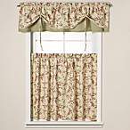 Versa-Tie® Vintage Vine Moss Window Valance and Tier Pairs