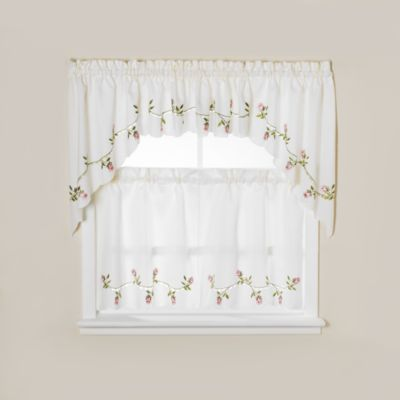 Winding Rose Window Curtain Valance