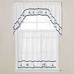 Lighthouse Blue Window Curtain Tiers