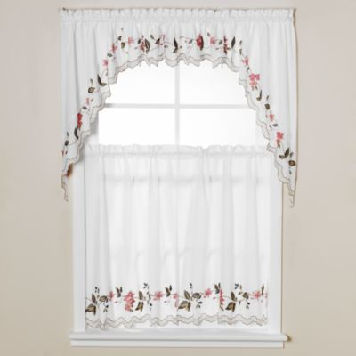 Floral Trellis 24-Inch Window Curtain Tiers