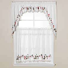 Floral Trellis Window Curtain Tiers