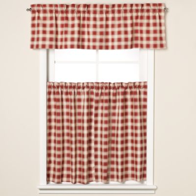 Country Check 36-Inch Window Curtain Tiers