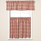 Country Check Window Curtain Tiers