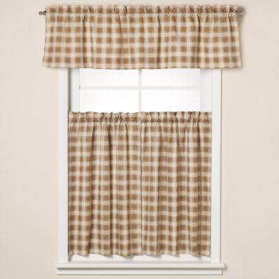 Country Check 24-Inch Window Curtain Tiers