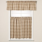 Country Check Camel Window Curtain Tiers