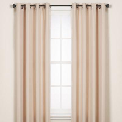 Commonwealth Home Fashions 84-Inch Gazebo Indoor/Outdoor Window Curtain Panel in Khaki