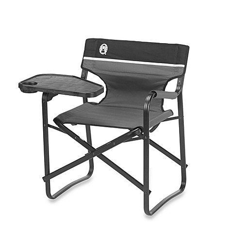Coleman® Aluminum Deck Chair with Swivel Table