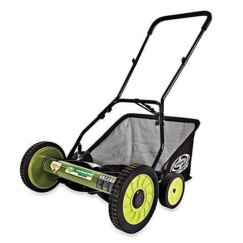 Sun Joe Mow Joe MJ501M 18-Inch Manual Reel Mower with Catcher