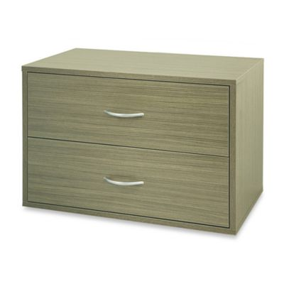 Organized Living freedomRail® Double Hang O-Box 2-Drawer Unit in Driftwood