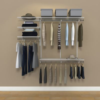 Organized Living freedomRail® 6-Foot White Ventilated Closet Kit