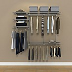 Organized Living freedomRail® 6-Foot Nickel Ventilated Closet Kit