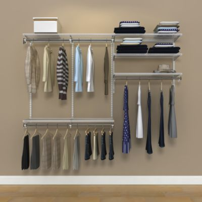 Organized Living freedomRail® 7-Foot White Ventilated Closet Kit