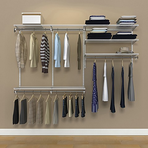 Organized Living freedomRail® 8-Foot Ventilated Closet Kit in White