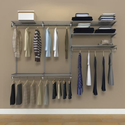 Organized Living freedomRail® 8-Foot Nickel Ventilated Closet Kit