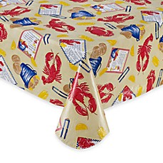 Crab Shack Vinyl Tablecloth