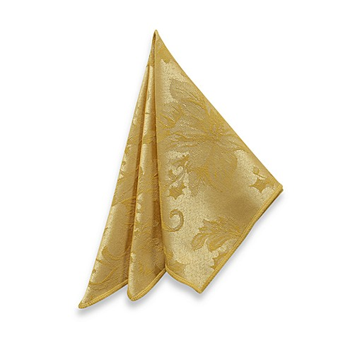 Holiday Joy Napkins in Gold (Set of 4)