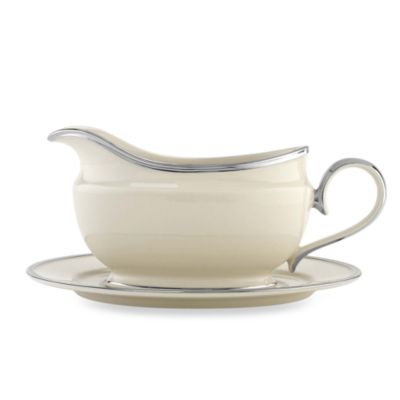 Lenox® Solitaire® Gravy Boat & Stand Set