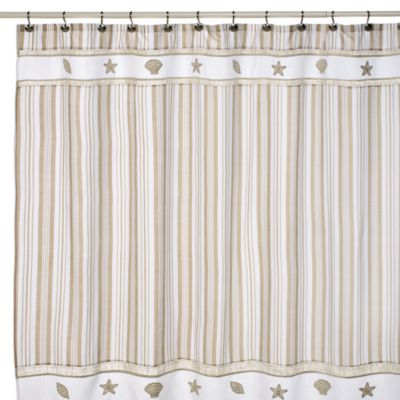 Sand and Sea Fabric Shower Curtain