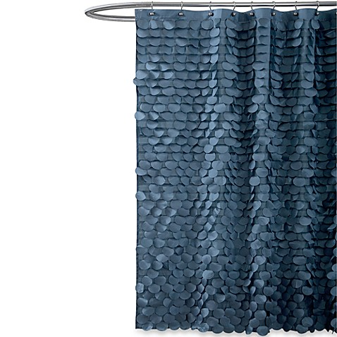 Gigi Blue Fabric Shower Curtain